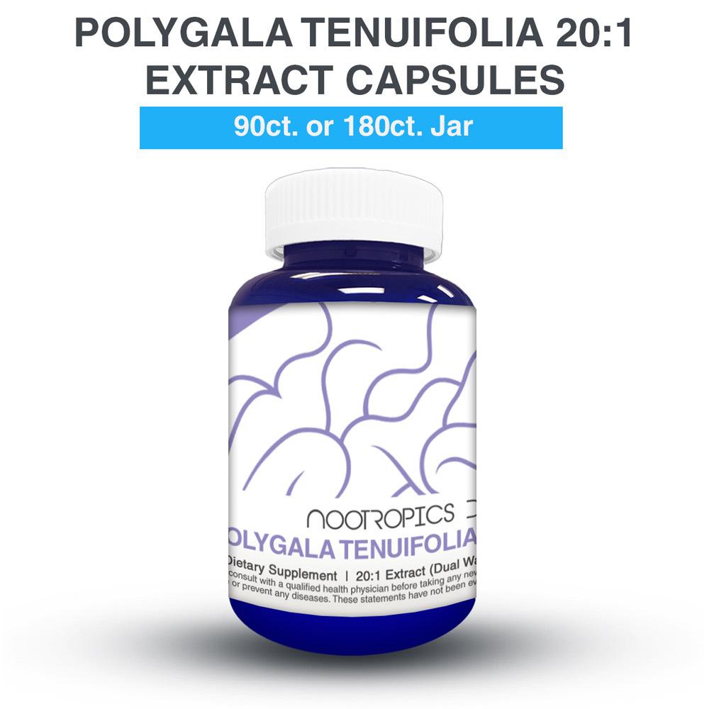 POLYGALA TENUIFOLIA 20:1 EXTRACT 100MG CAPSULES (YUAN ZHI)