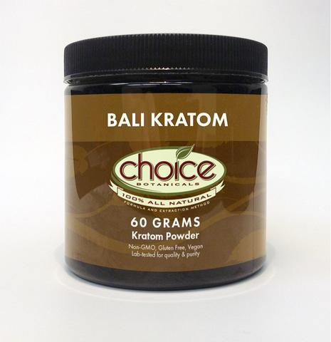 Bali Kratom 60Gm Powder by Choice Botanicals