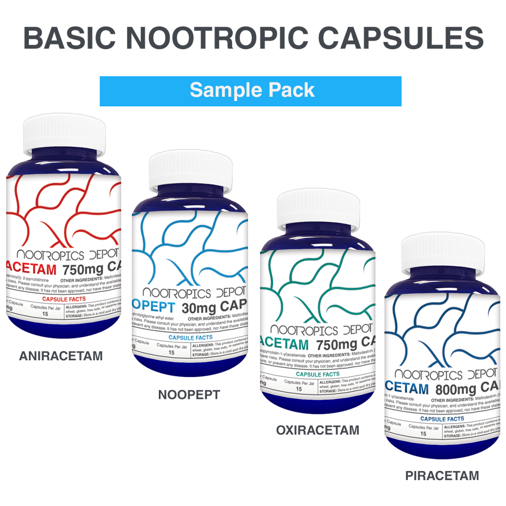 BASIC NOOTROPICS CAPSULES SAMPLE PACK