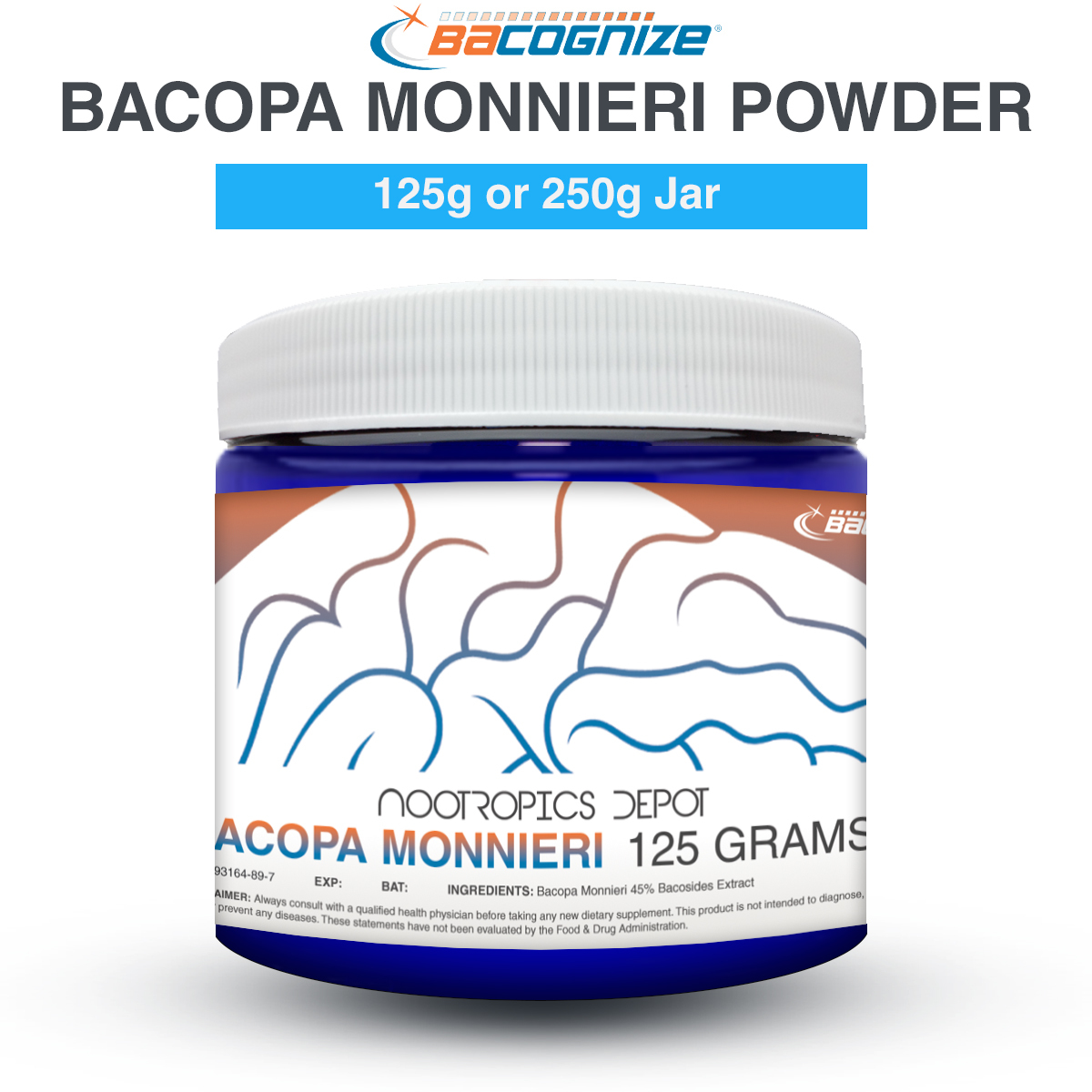 BACOGNIZE BACOPA MONNIERI POWDER