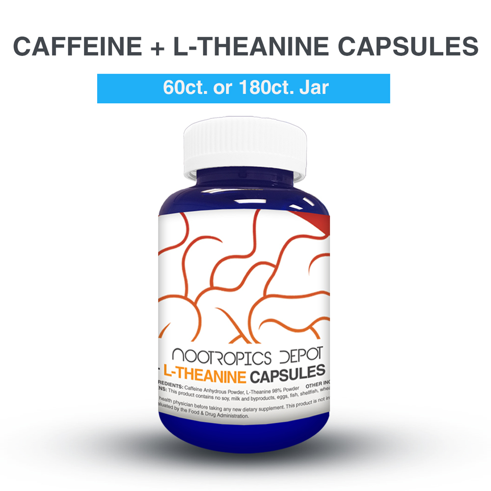 CAFFEINE 100MG + L-THEANINE 200MG CAPSULES