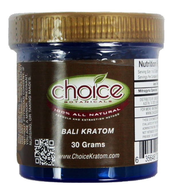 Bali Kratom 30Gm Powder by Choice Botanicals